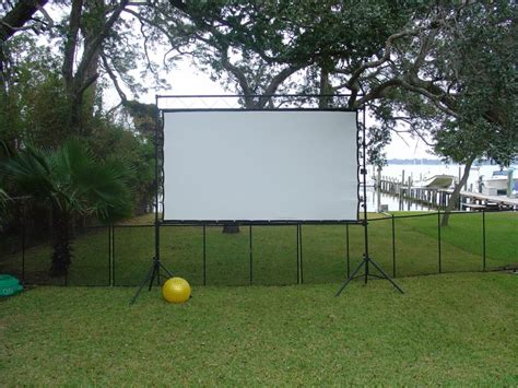 backyard theater screen diy outdoor theater yard ideas yardshare