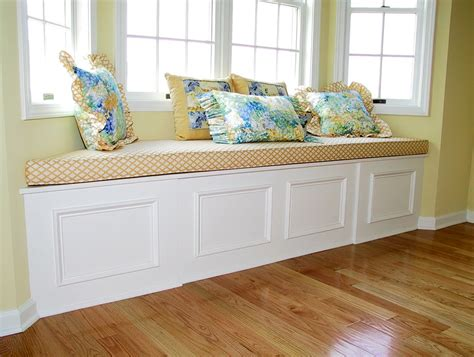 window bench cushion the blog built in bench seating a custom solution