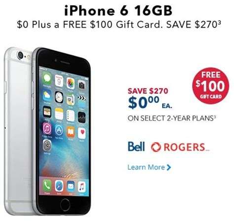 Bestbuy Ca Gift Card - best buy vip sale iphone 6 for 0 on contract plus 100 gift card iphone in canada