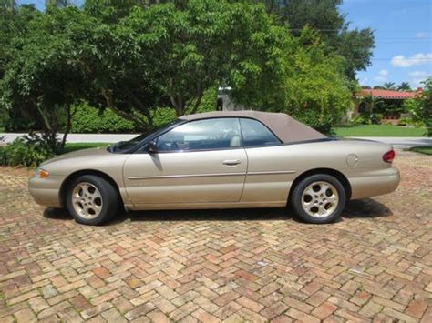 1998 chrysler sebring jxi convertible find used 1998 chrysler sebring jxi convertible 2 door 2
