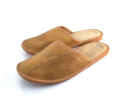 mule slippers brown s leather mule slippers 340 brown pm