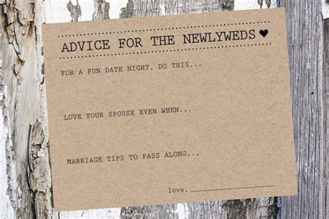 newlywed card templates 25 best ideas about advice cards on shower