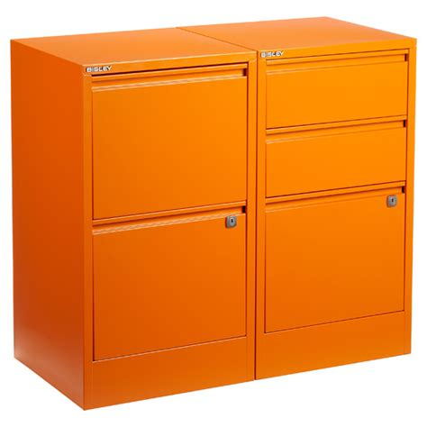 Orange Filing Cabinet Orange Bisley 174 2 3 Drawer File Cabinets The Container Store