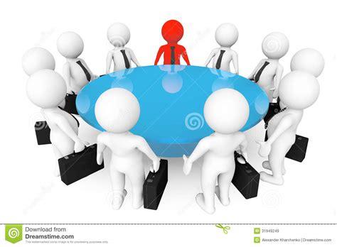 imagenes de reuniones informativas personas 3d que se encuentran en la mesa de reuniones