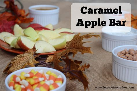 caramel apple bar toppings caramel apple bar