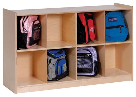 backpack storage steffywood 8 cubby kids cabinet shelves backpack storage