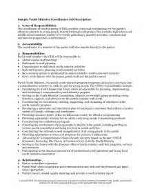 Christian Youth Leader Sle Resume by Youth Pastor Resume Sles 5 Sle Resumes Ministry Resume Exle Free