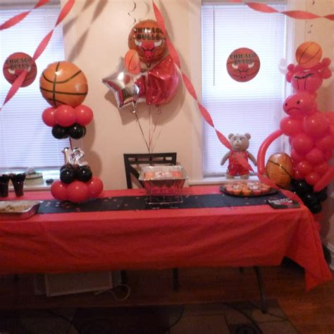 Chicago Bulls  Ee  Birthday Ee    Ee  Party Ee   Chicago Bulls Balloons