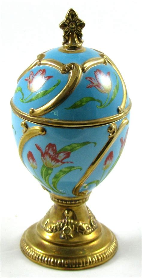 house of faberge musical eggs franklin mint house of faberge tulip porcelain musical egg tchiakovsk