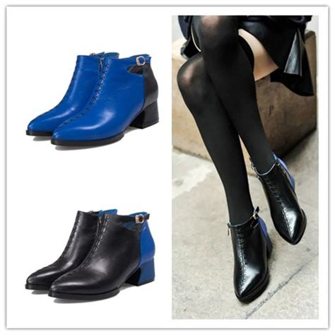 Boots Hitam Leather Grain Size 35 new style grain genuine leather shoes boots 2014 italian boots with fur liner