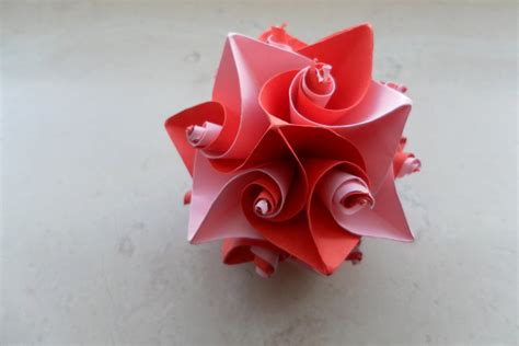 Origami For Valentines Day - curl origami 3 s theme by fleecyblue on deviantart