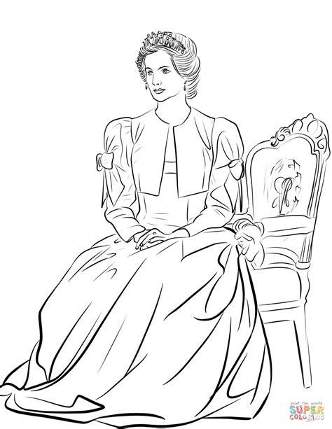 coloring page of princess diana disegno di principessa diana da colorare disegni da