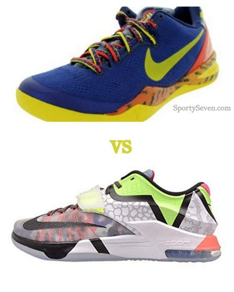 tennis shoes vs basketball shoes nike kd vii vs 8 review and comparison sportyseven