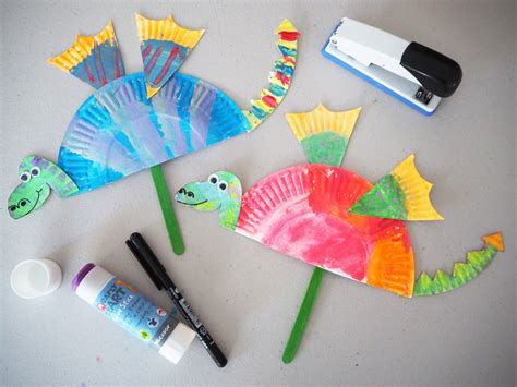 Learn Paper Crafts - learn with play at home simple paper plate craft