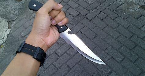 Pisau Survival Krambit Hitam pisau skinner gagang hitam adhistore