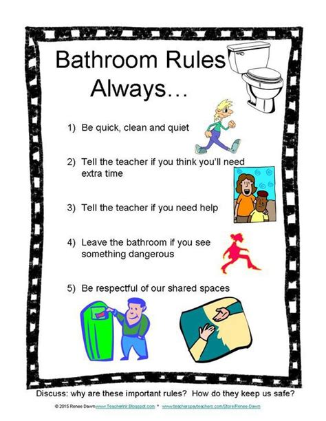 classroom bathroom procedures bathroom rules clipart clipground