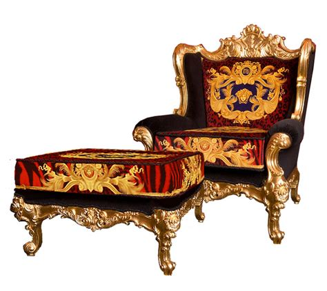 versace chair iqdesigner dg versace king throne chair red animal print