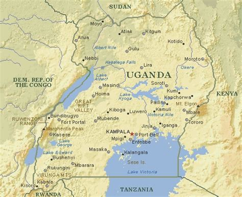 map of uganda map of uganda the uganda childbirth injury fund