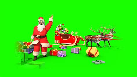 animated photos of christmas santa claus with reindeer santa claus reindeer 3d model animated pixelboom