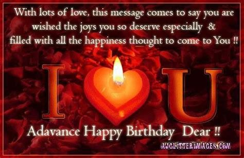 advance birthday wishes wishes  pictures  guy