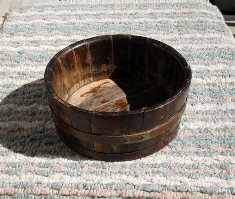 Antique Wooden Bowls Handmade - handmade antique wooden bowl tongue and groove slats