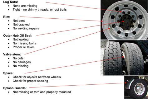 pre trip inspection tractor trailer cdl testcom cdl test answers dmv test answers