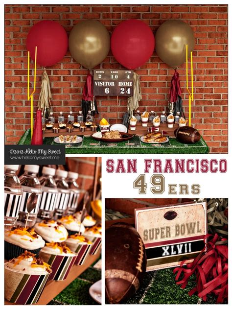 san francisco themed decorations 17 best images about eddies on football