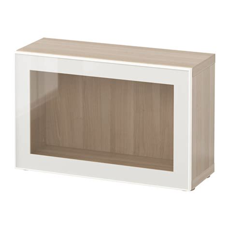 besta glass shelf best 197 shelf unit with glass door white stained oak