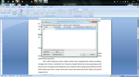 membuat database word langkah langkah membuat mail merge dengan menggunakan