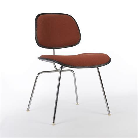 eames original original herman miller eames upholstered dcm chair 66699