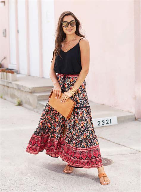 ways  wear  maxi skirt  summer outfits