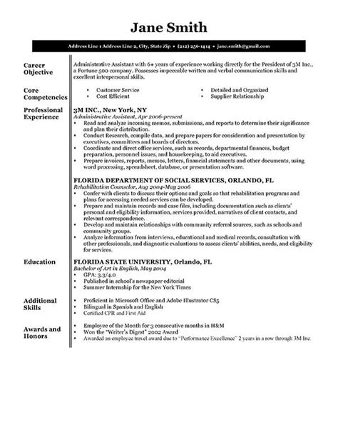 free resume sle learnhowtoloseweight net