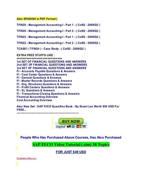 sap erp tutorial pdf free download sap tfin20 pdf download