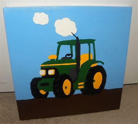 tractor room tractor painting boys room made to look like a deere tractor one 10x10 canvas