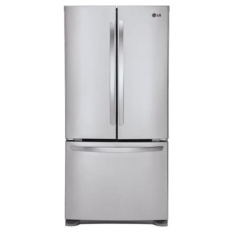 Countertop Depth Fridge by Shop Lg 20 9 Cu Ft Counter Depth Door Refrigerator