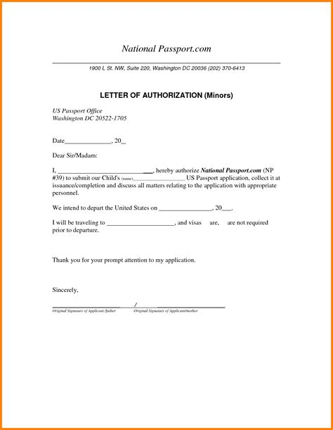 authorization letter format to collect passport 4 authority letter for collection of passport cashier