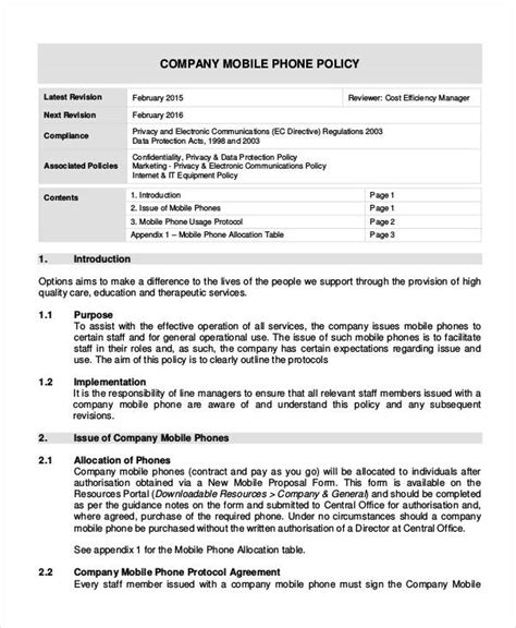 company and regulations template company policy template 9 free pdf documents