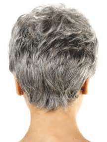older women short hairstyles back view