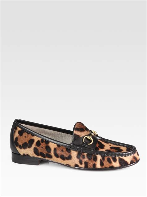 pony hair loafers gucci horsebit pony hair leather loafers in animal