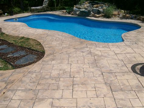 outdoor best swimming pool deck with pool deck resurfacing options and eurotile patterns plus