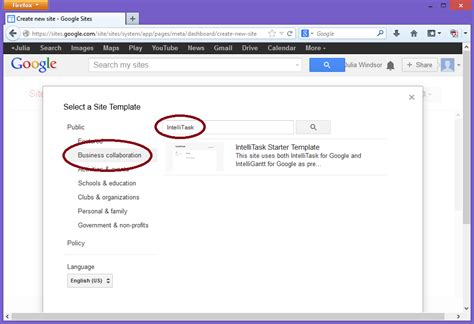intelligantt google site template for intellitask and