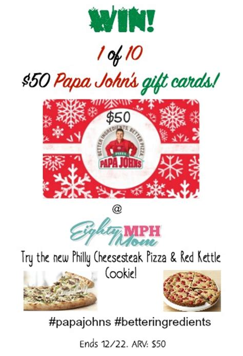 Papa Johns Gift Cards - papa john s philly cheesesteak pizza