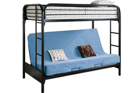 Metal Bunk Bed Futon by Safe Metal Futon Bunked Outback Black Futon Bunk Bed The Futon Shop