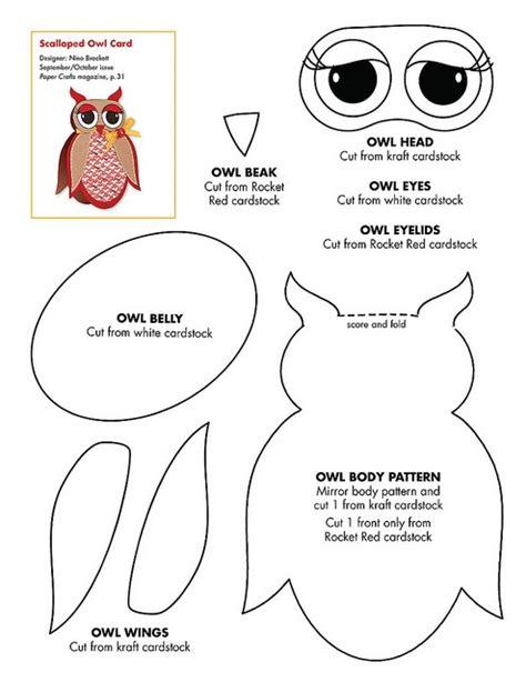 construction paper owl template plantilla fieltro broches de fieltro ideas y trucos