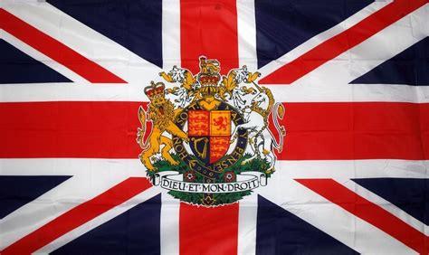 flags of the world union jack united kingdom with royal crest union jack hand waving