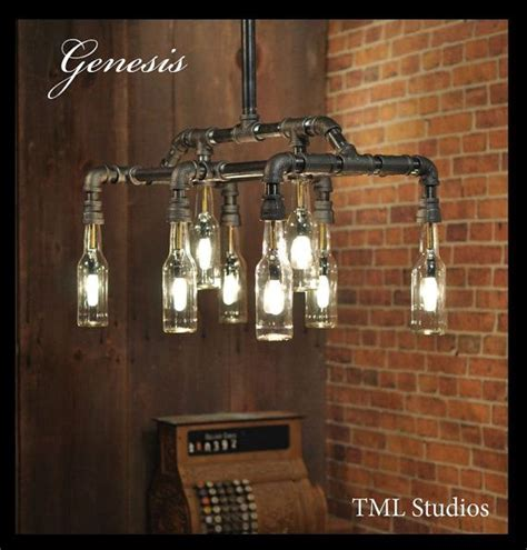 Plumbing Light Fixtures Genesis Industrial Steunk Chandelier Bottle