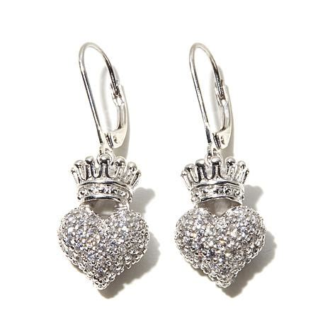king baby jewelry 1 88ct cz 3d crown sterling silver