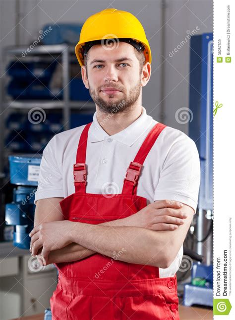 Production Worker by Production Worker In Factory Royalty Free Stock Images Image 38257839