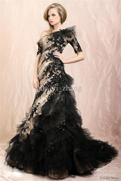 Wedding Dresses Black by Looking And Modest With Black Wedding Dresses With