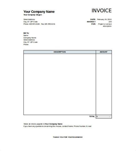 template free premium smdlab invoice invoice templates